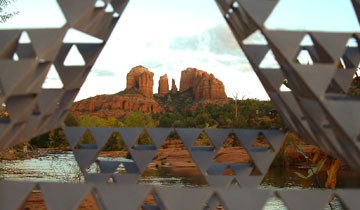 Cathedral Rock in Sedona, Arizona, USA viewed 